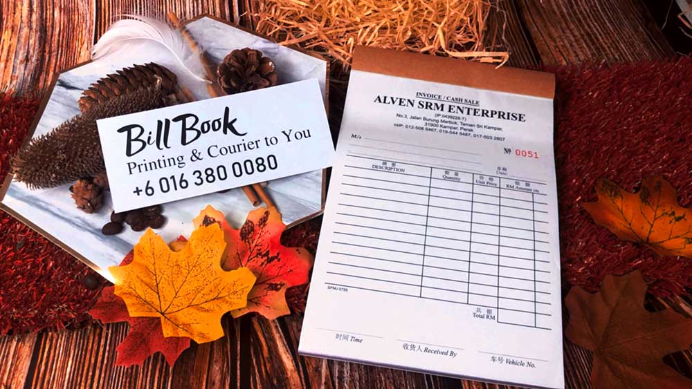 Maran Bill Book Receipt Book Invoice Book Printing to Maran