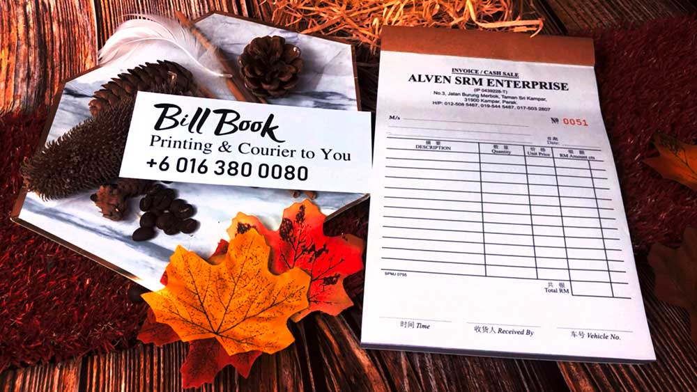 Bentong Bill Book Receipt Book Invoice Book Printing to Bentong