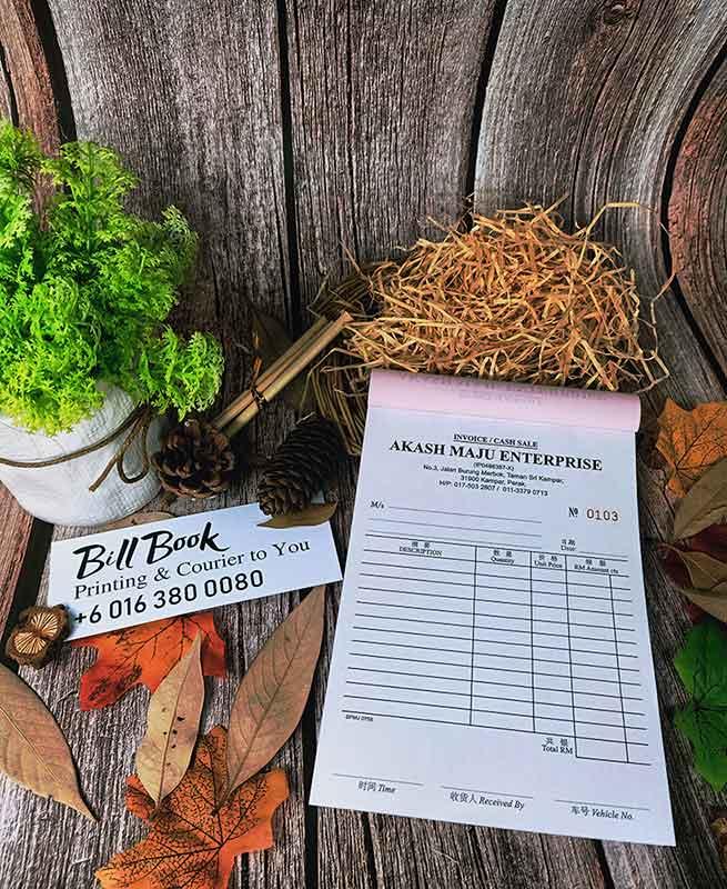 Bandar Baru Sentul Print Bill Book Receipt Book Invoice Book Printing to Bandar Baru Sentul